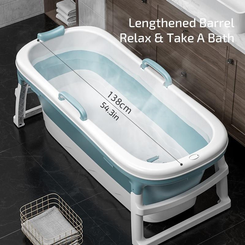 Бесплатная доставка 1,4 m/55in для взрослых Ванна баррель отпаривание пота Ванна Пластиковая Складная утолщенная Ванна домашний массаж