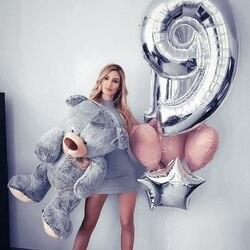40 polegada número balão 1 2 3 4 5 números dígitos folha de hélio ballons chuveiro do bebê festa aniversário decoração do casamento festa suprimentos