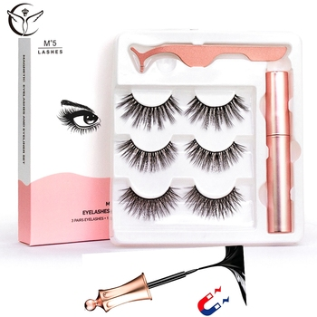 2/3 Pairs Magnetic Eyelashes with Liquid Magnetic Eyeliner natural pestañas magneticas cils magnetique Waterproof long lasting magnetic eyelashes 5pairs with liquid magnetic eyeliner natural waterproof long lasting soft pestañas magneticas cils magnetique