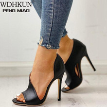 WDHKUN Women Pumps shoes open toed heels