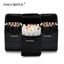 TOUCHFIVE 24 Color Art Markers Set Dual Brush Pens Graphic Art Pens Alcohol Based Sketch Ink For Drawing Manga Markers Art