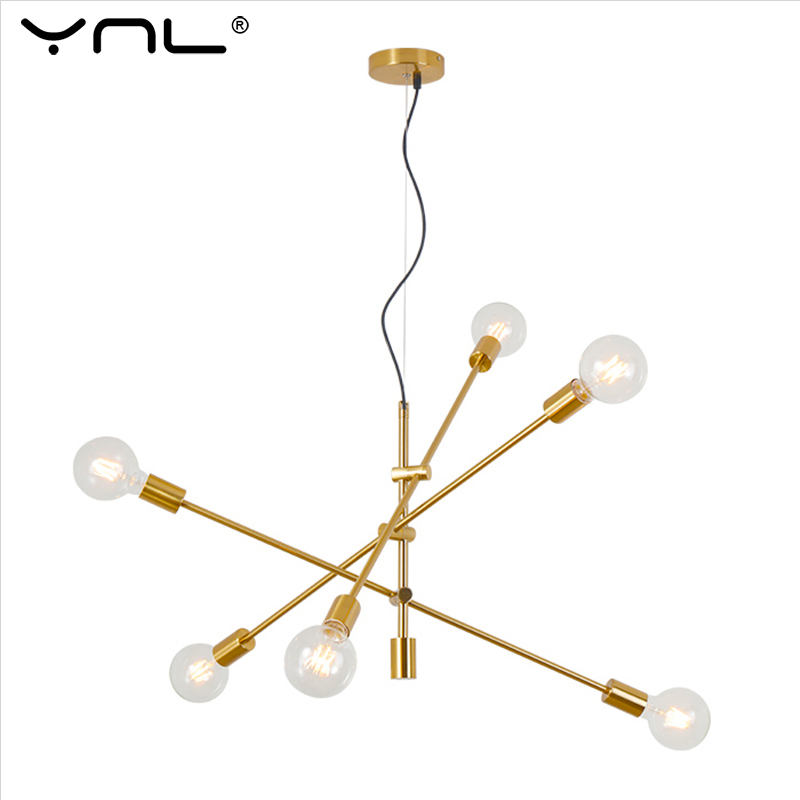 Modern Pendant Lamp Black/Gold E27 Nordic Pendant Lights Fixture Hanging Lamp Dining Living Room Decoration Kitchen Lighting