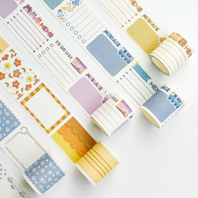 5.2cm To Do List Memo Bullet Journal Washi Tape Adhesive Tape DIY Scrapbooking Sticker Label Masking Tape