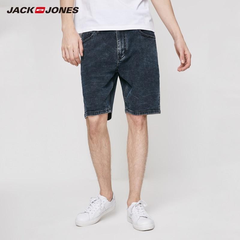 JackJones Men's Straight Fit Italian Fabric Stretch Denim Shorts Menswear| 219243515