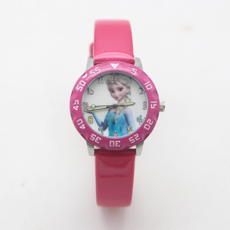 New Arrival Fashion Anna Elsa Princess Design Children Lovely Watch Quartz Jelly Kids Clock Students Watches Relogio Kol Saati
