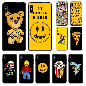 Justin Bieber Drew Phone case For iphone 4 4s 5 5S SE 5C 6 6S 7 8 plus X XS XR 11 PRO MAX 2020 black silicone cell cover trend image