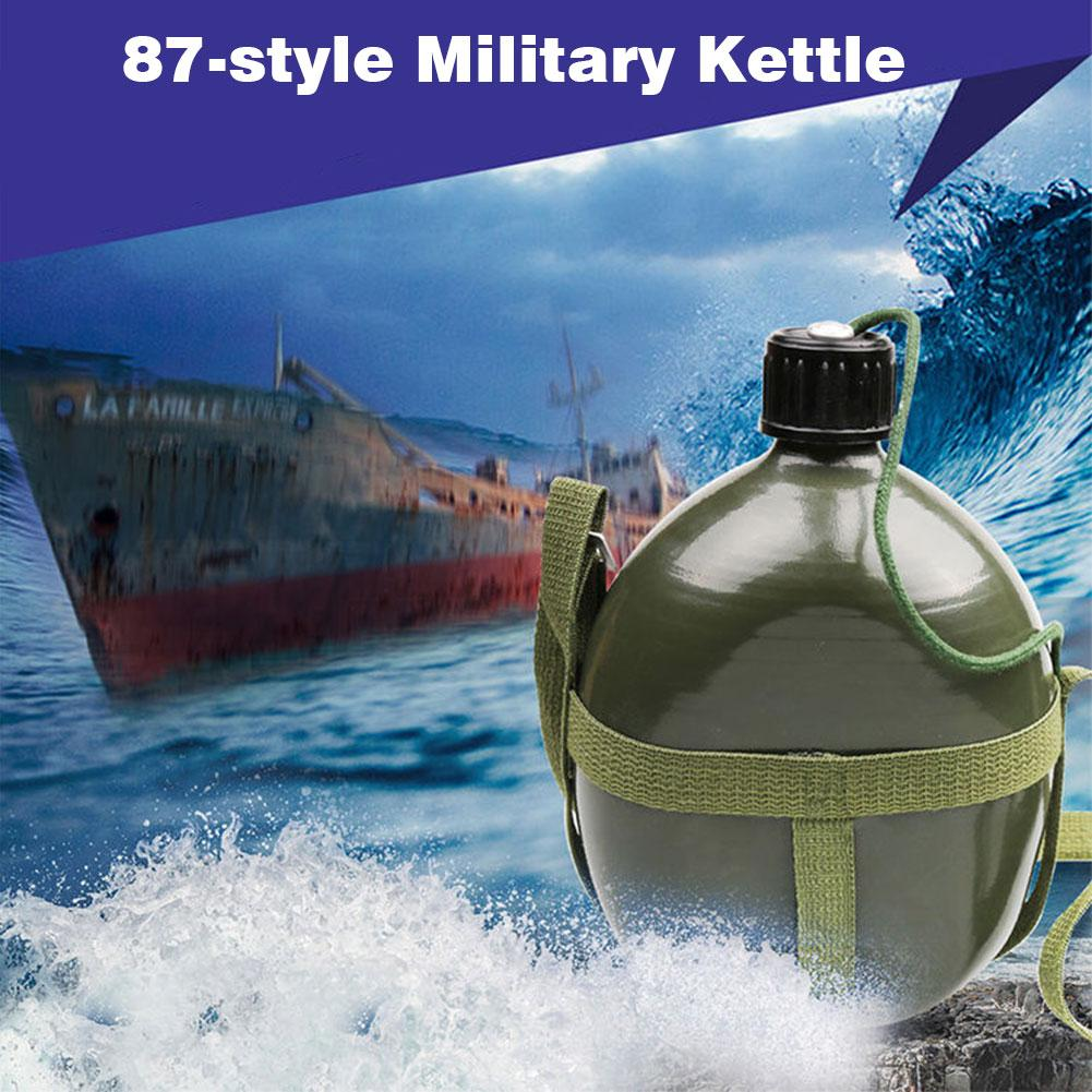 2L Travel Camping Large Capacity Striped Felt Canteen Outdoor Kettle Portable