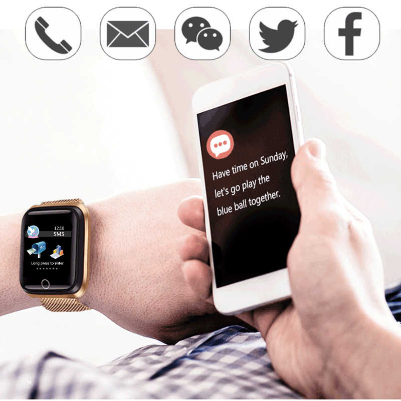 2019 Baru Smart Watch Tahan Air Anti Gores Aktivitas Kebugaran Tracker Heart Rate Monitor Ini Pria Wanita Smartwatch Sport Jam Tangan