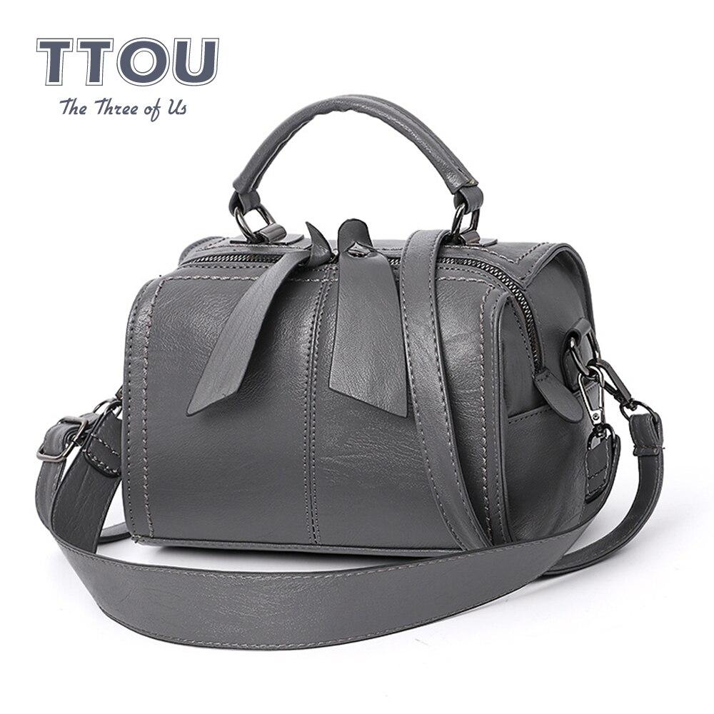 Vintage Elegant Pu Leather Women Handbag High Quality Shoulder Bag Design Solid Top-handbags Fashion Simple Travel Crossbody Bag