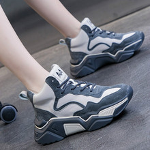 High quality color matching sneakers female sports shoes bre