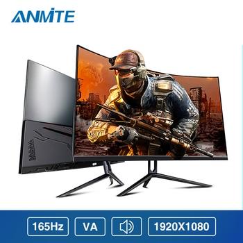 """Anmite-Monitor para videojuegos de 27 """", 165hz, HDR, curvado FHD, 1920x1080, 144HZ, pantalla HDMI, ultrafino"""