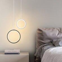 Креативный кольцевой подвесной светильник прикроватный светодиодный