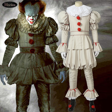 Movie It Chapter Two Stephen Kings Costume Pennywise The Dancing Clown Cosplay Adult Halloween Full Set Boots Horror