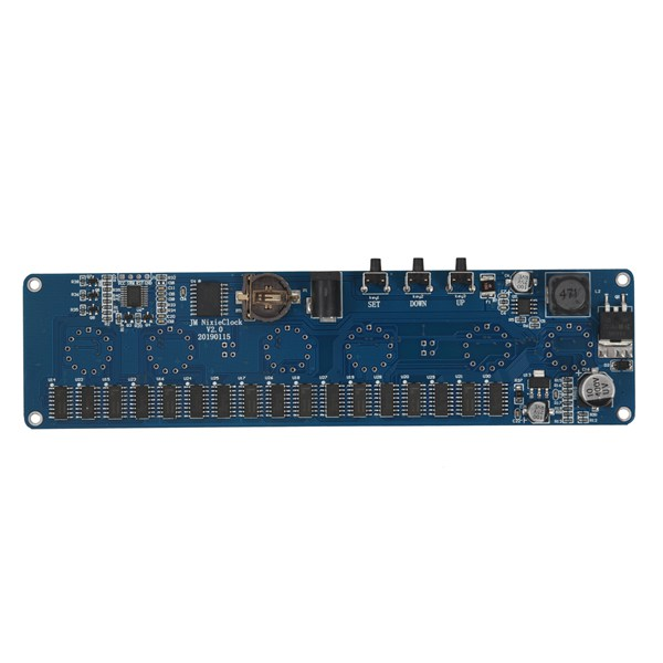 In14 in4 Tubo Nixie Relógio digital LEVOU relógio de presente de DIY kit placa de circuito PCBA, Sem tubos
