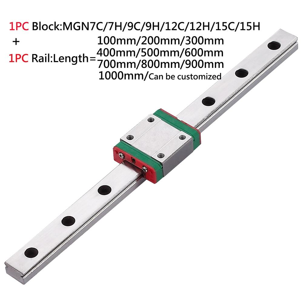 MGN12D MGN12C MGN12H 100mm-2000mm 3D printer parts miniature linear guide rail guideway