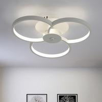 Moderno e minimalista sala de estar lâmpada anel iluminação teto personalizado quarto estudo sala jantar iluminação