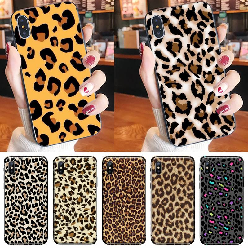 Sexy leopard Phone Case for iPhone 11 12 pro XS MAX 8 7 6 6S Plus X 5S SE 2020 XR