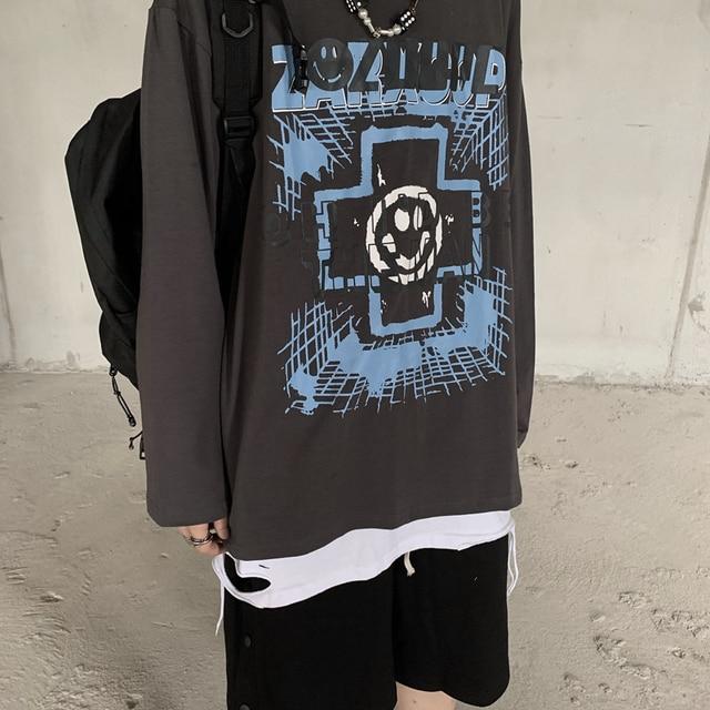 футболка с принтом в стиле харадзюку забавная одежда гонконгском фотография