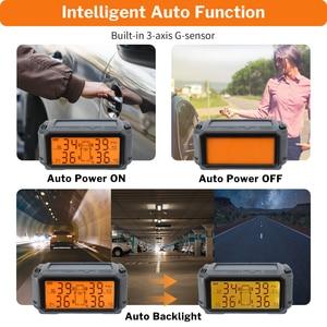 Image 5 - Tire Pressure Monitoring System TPMS Sensor Solar Car Security Smart Tyre Control Wireless 4 Wheels External Internal Sensors