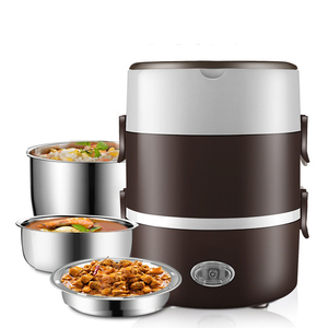 220V Mini Electric Rice Cooker 2/3 Layers Steamer Stainless Steel Portable Meal Thermal Heating Lunch Box Food Container Warmer