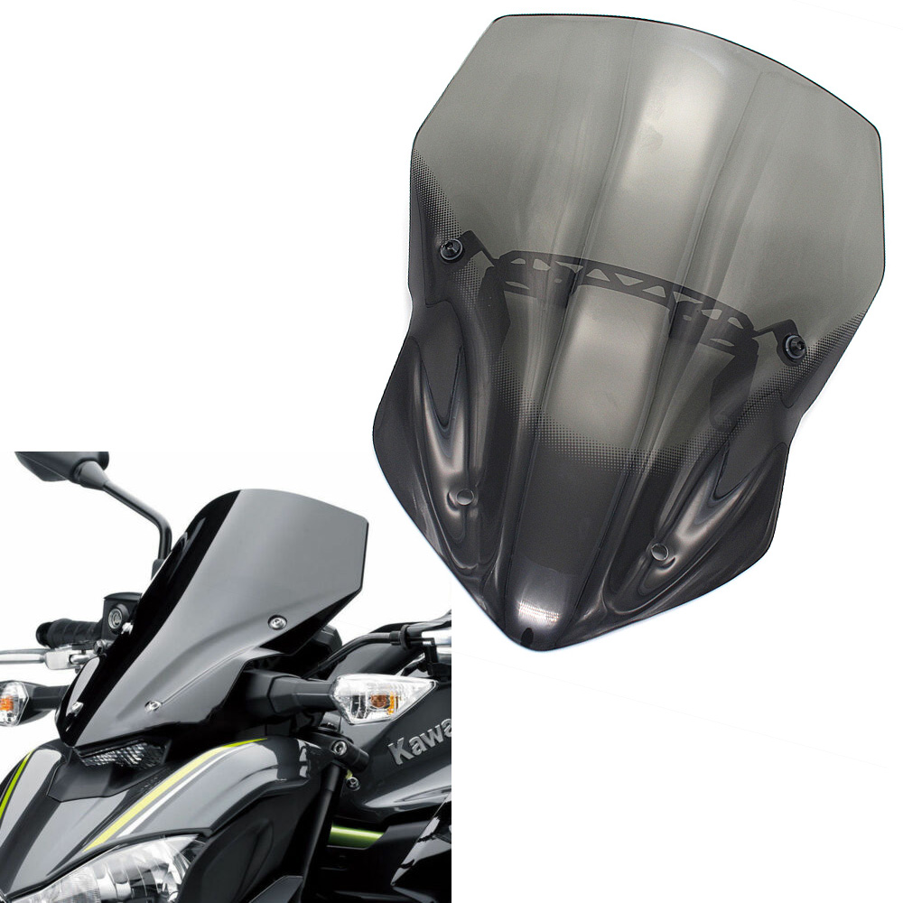 z900 windscreen For <font><b>KAWASAKI</b></font> <font><b>Z</b></font> <font><b>900</b></font> <font><b>2017</b></font> Modified Motorcycle Windshield scooter Steel solidification Wind Deflectors image
