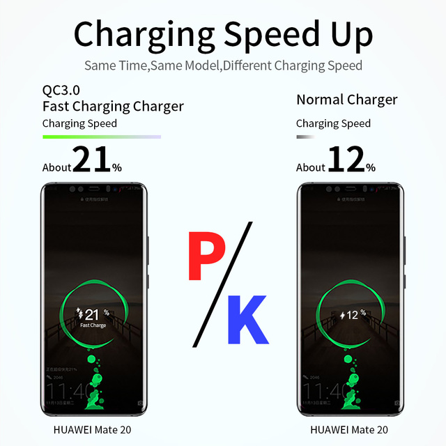 3A Quick Charge 3.0 USB Charger For iPhone 11 Pro 8 EU Wall Mobile Phone Charger Adapter QC3.0 Fast Charging For Samsung Xiaomi 3