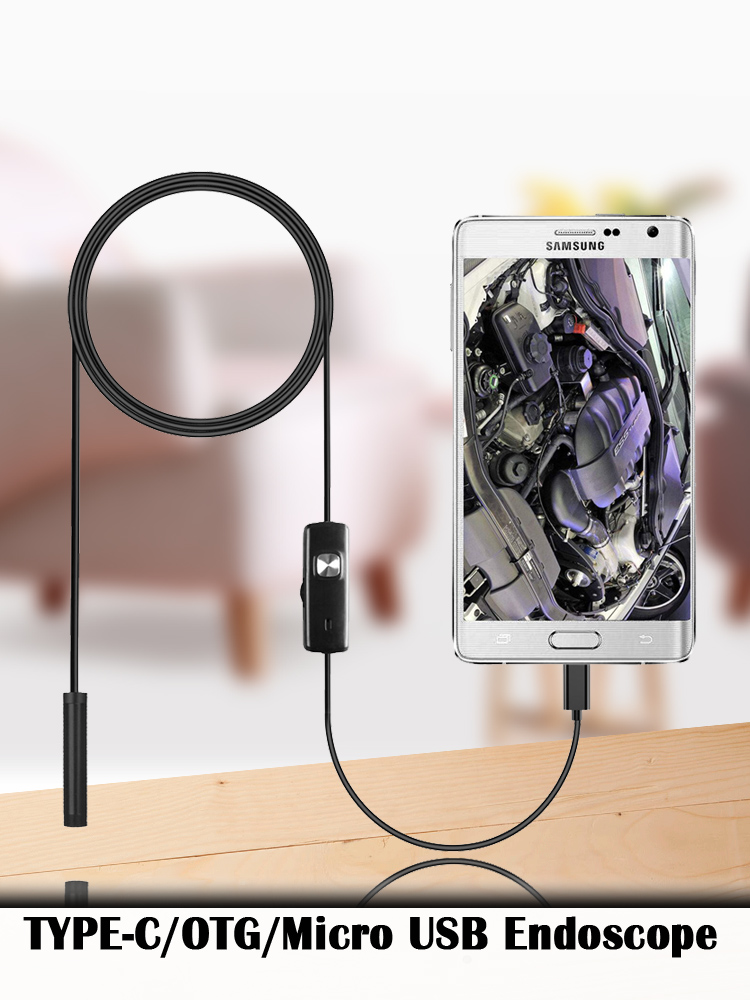 Endoscope Camera Notebook Micro-Usb-Inspection Adjustable Flexible Waterproof Android