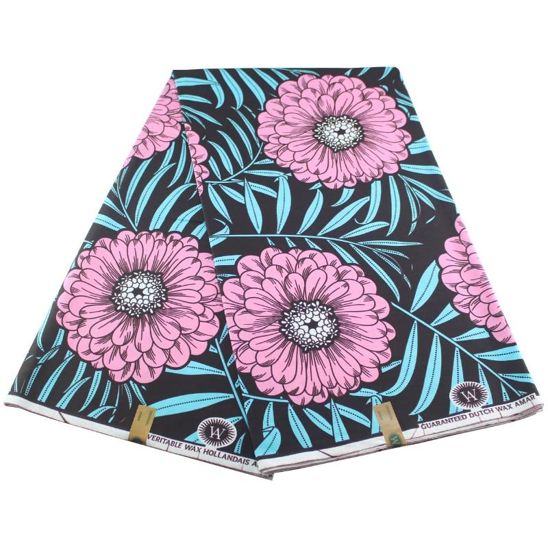 Ankara 2020 100% Cotton High Quality Wax Africain Fabric Wax Print 6 Yards African Nigeria Pagne Wax Fabric