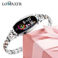 Reloj inteligente android para mujer pulsera de fitness presión arterial monitor de ritmo cardíaco resistente al agua reloj de pulsera para damas relojes de pulsera