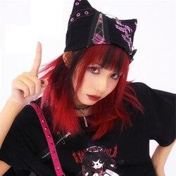 Япония Харадзюку уникальные панк кошачьи ушки Угол & Дьявол Косплей шляпа