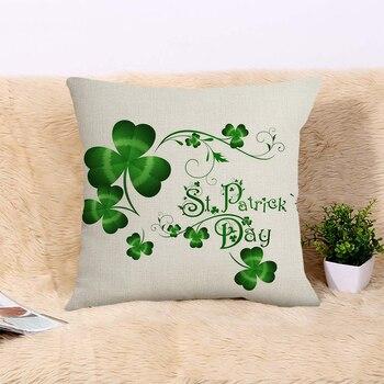 Happy Saint Patricks Day Decor For Home Shamrock Clover Pillowcase St.Patricks Day Party Decor Irish Party Supplies Favor Gift 1