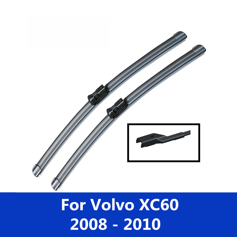 Car windshield Wiper Blades For <font><b>Volvo</b></font> <font><b>XC60</b></font> 2008 2009 2010 2011 2012 2013 2014 2015 <font><b>2016</b></font> 2017 2018 2019 2020 image