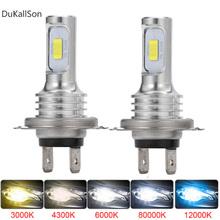 2 sztuk H4 H7 H11 ledowa żarówka do reflektorów belki zestaw 12V 80W wysokiej dioda LED dużej mocy światła samochodowe reflektor 12000K 6000K żarówki rozświetlające do samochodu 12000LM tanie tanio DukallSon CN (pochodzenie) Universal 12 v 6000 k 12000lms DC9-36V Car Headlight Fog Light H4 led h4 led h4 h4 led bulb H4 led headlight