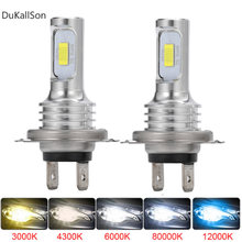 2 pçs h4 h7 h11 led farol lâmpada feixe kit 12v 80w de alta potência conduziu a luz do carro farol 12000k 6000k lâmpadas do farol automóvel 12000lm