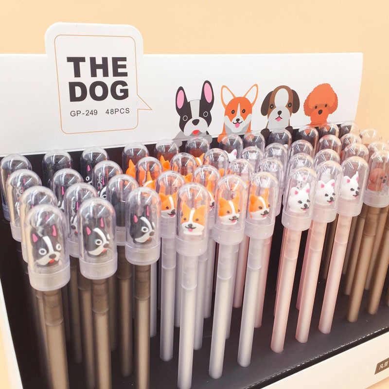 إلين بروك 1 قطعة لطيف Kawaii الكلب هلام القلم قلم الكرات الدوّارة مدرسة مكتب التموين الاطفال طالب هدية القرطاسية