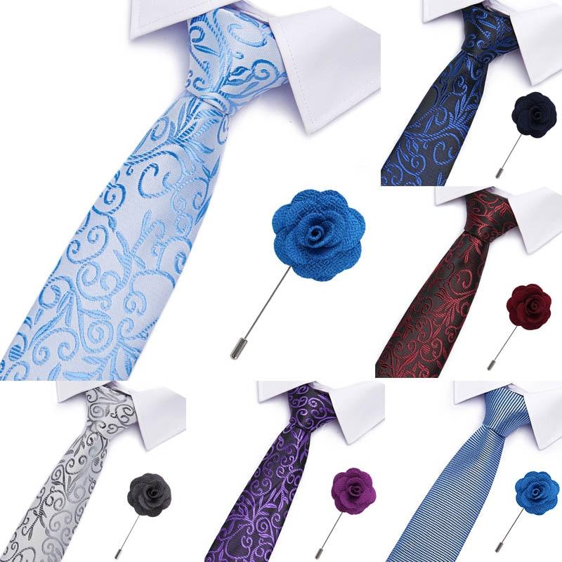 Free Shipping Gravatas Mens Accessories Striped Plaid Pattern Business Silk Tie Set Necktie &Pin Men Wedding Suit Jacquard Ties