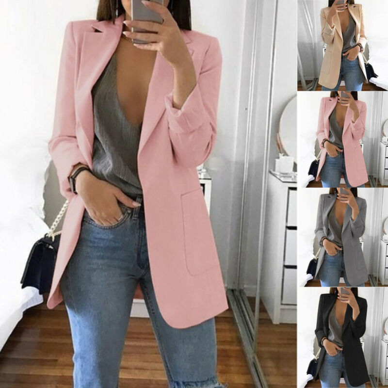 Arrival Women Autumn Winter Office Lady Top Long Sleeve V Neck OL Blazer Feminino Eleagnt Veste Femme Vintage Classic Streetwear