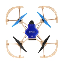 ZL100 Diy Drone Mini Pocket Racing RC Dron Wooden Quadcopter 2.4ghz Remote Control Toys For Kids