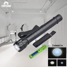 TopCom Heavy Duty большой полиции фонарь Q5 LED высокий мощный 3D Батарея металла Алюминий с случае Перезаряжаемые смены