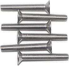 цена на Screw 50PCS M4 304 Stainless Steel Metric Thread Flat Head Screw Cross Recessed Bolt Fastener - (Length: M4x40)