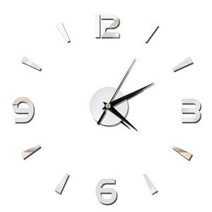 Image 2 - 2019 New 3D Wall Clock Mirror Wall Stickers Fashion Living Room Quartz Watch DIY Home Decoration Clocks Sticker reloj de pared