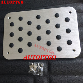 UNIVERSAL ALUMINUM STAINLESS STEEL CAR FOOT FLOOR MATS CARPET MAT PADS ANTI-SKID FOOTPAD AUTO DIY PAD DRESSING ACCESSORY KIT 1PC