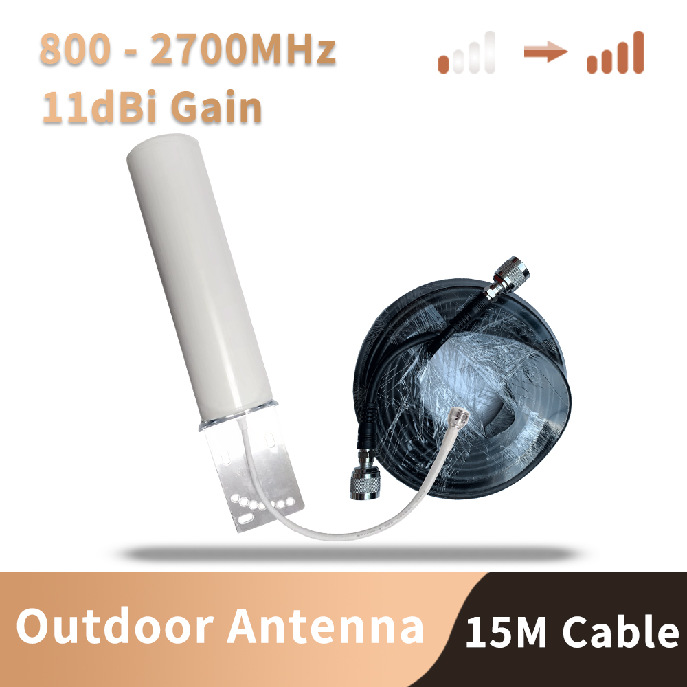 N Connector 12DBi  Outdoor Antenna For 2G 3G 4G 700 800 900 1800 1900 2100 2600 GSM Repeater Cellular Amplifier Mobile Internet
