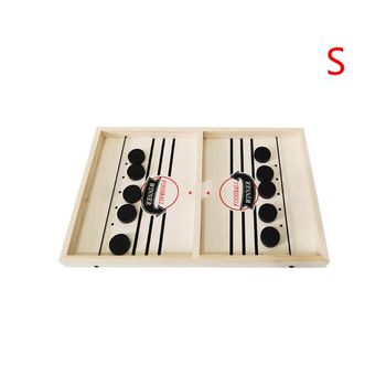 Head-to-Head Wooden Desktop Hockey Table Game for Kids and Adults, Portable Hock K1KD image