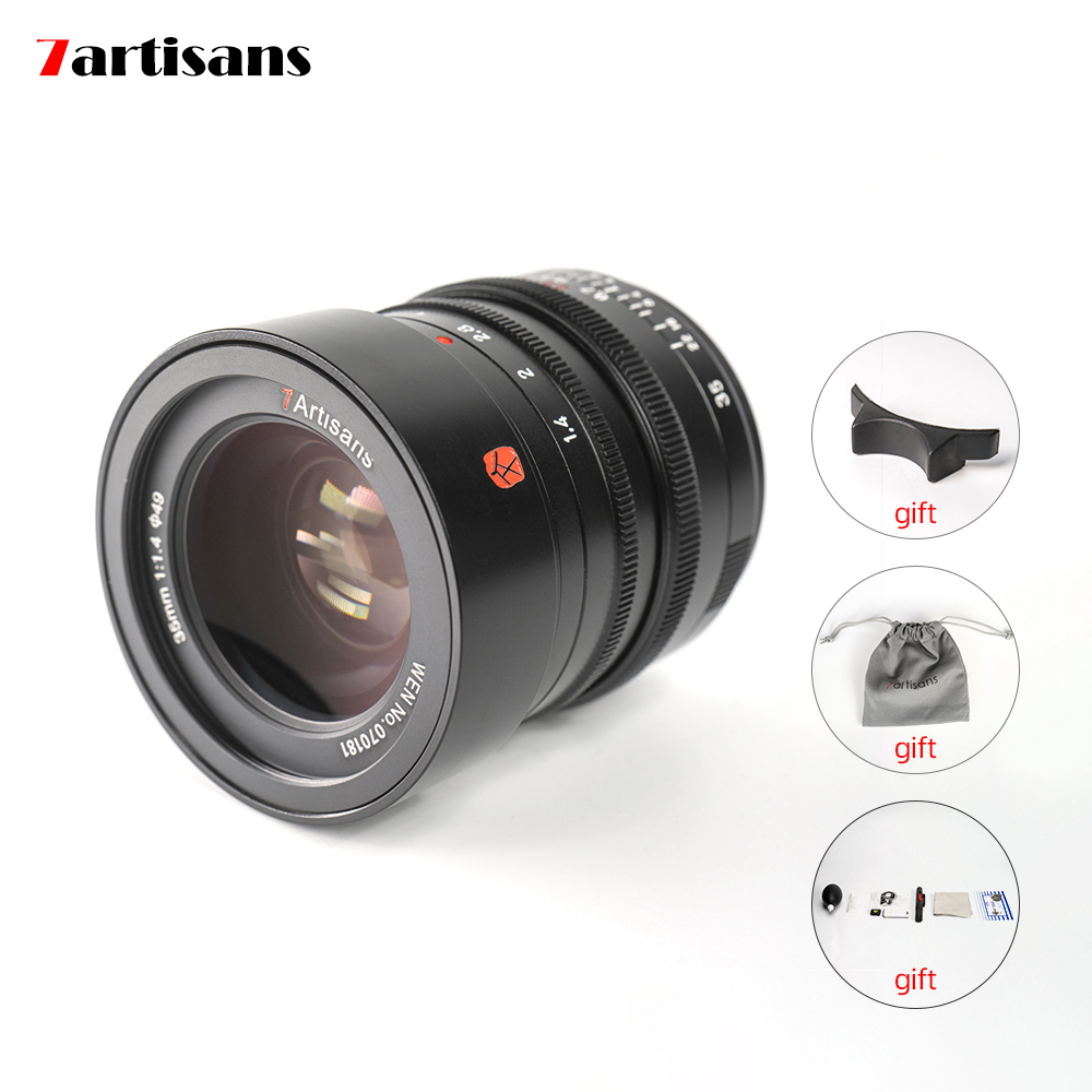 7artisans M35mm f1.4 Full Frame M-Mount Lens for Leica M2 Leica M3 Leica M4 Leica SL Leica TL TL2 Leica CL and Fujifilm GFX Mirrorless Cameras with Adapter Ring