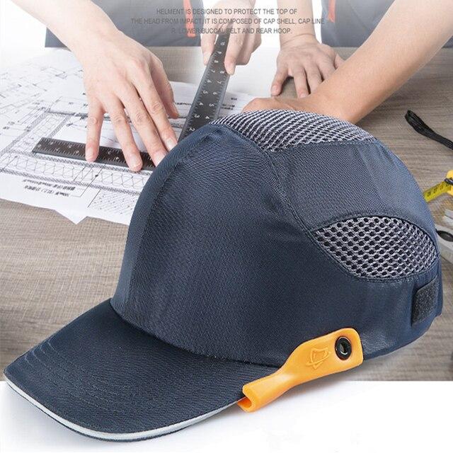 An toàn Va Đập Nắp Sọc Phản Quang Nhẹ và Thoáng Khí Mũ Đầu Mũ Bảo Hiểm Nơi Làm Việc Công Trường Xây Dựng Nón Đen