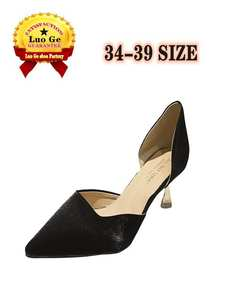 Stiletto Shoes Sandals Shallow Pointed Sexy Solid-Color Women's Simple New Basic Summer