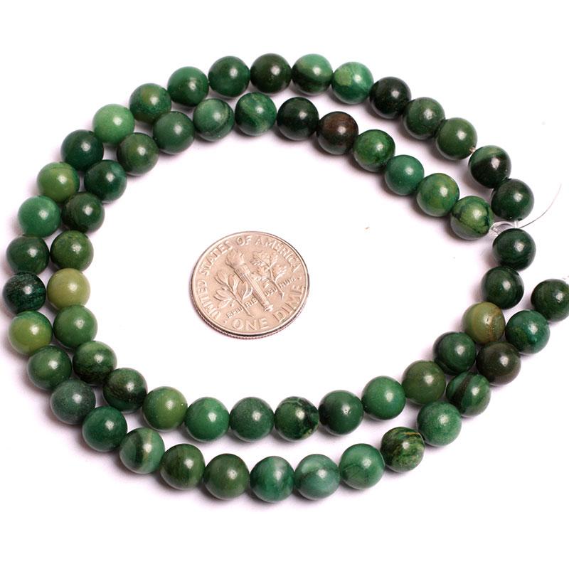 6 mm 8 mm 10 mm Jades africanos verdes (jadeíta) Cuentas de cuentas - Bisutería - foto 2