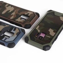 NFH Mixing Army Camouflage Armor Case For Samsung Galaxy S9 Plus S10 Lite A30 A40 50 A70 A6 2018 Silicone Cover