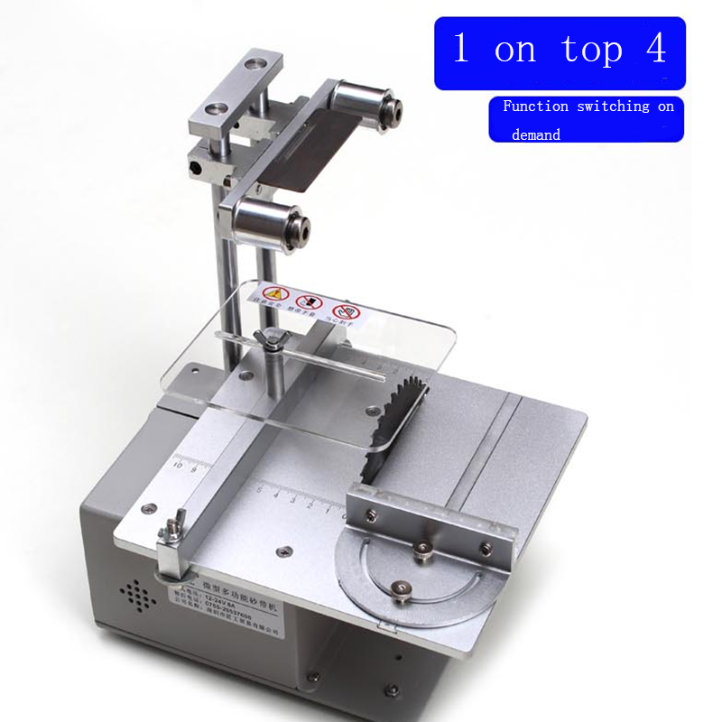 Small table saw desktop multi-function micro electric saw precision cutting machine grinder woodworking sliding table saw